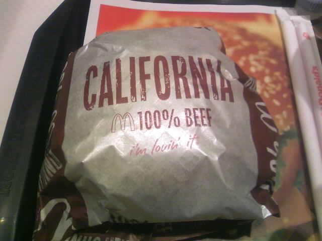 カリフォルニア バーガー